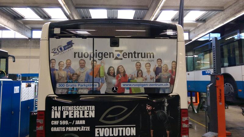 BlackStone Werbetechniker Busbeschriftung