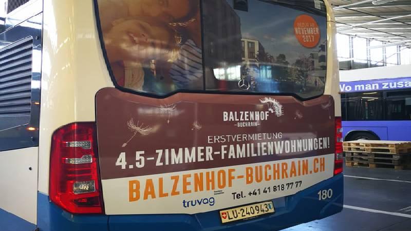 BlackStone Werbetechniker Busbeschriften Luzern