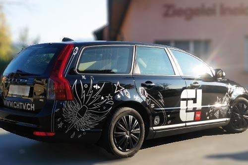 Fahrzeugbeschriftung BlackStone Werbetechnik