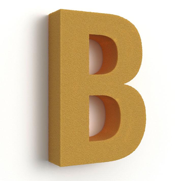 Buchstaben aus Styrodur