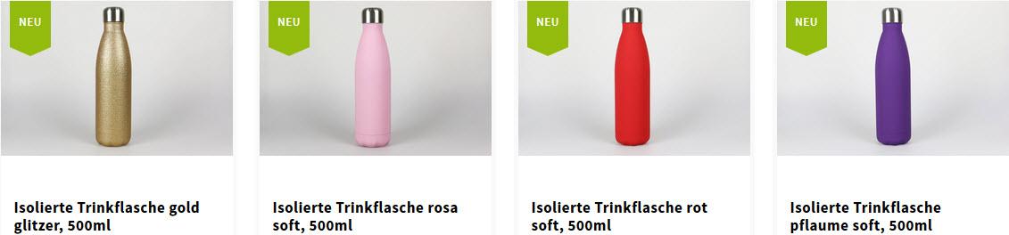 Isoliertrinkflaschen mit lasergravur