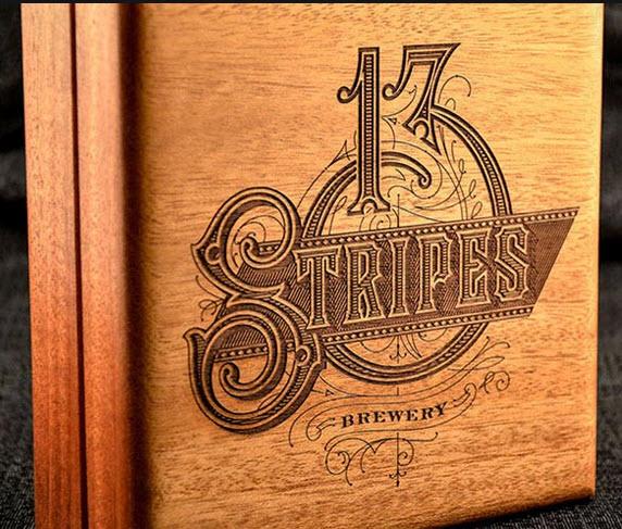 Lasergravur auf Holz in