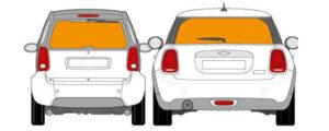Heckscheibenwerbung für Fahrzeug